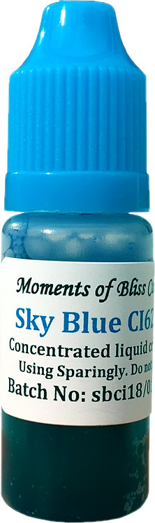 Cosmetic Water Based Liquid Dye - 10mL - Sky Blue