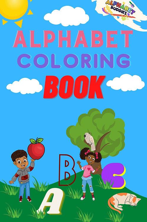 Alphabet Buddies coloring book