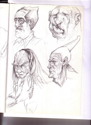 Timed sketch - Portraits
