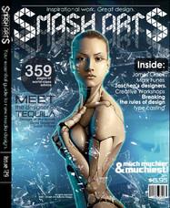 Mock magazine cover using web images
