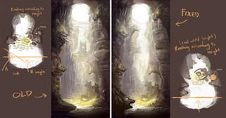 Cave level concept design