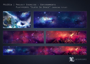 environment background concept, playing with possible colors, because this space is wack.