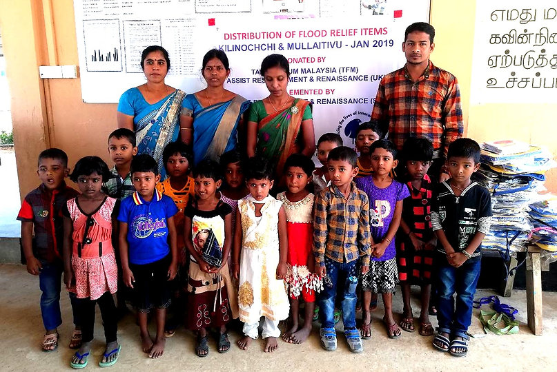 Flood relief to school children Jan 2019