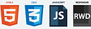 HTML 5, CSS3, Javascrpt, Responsive