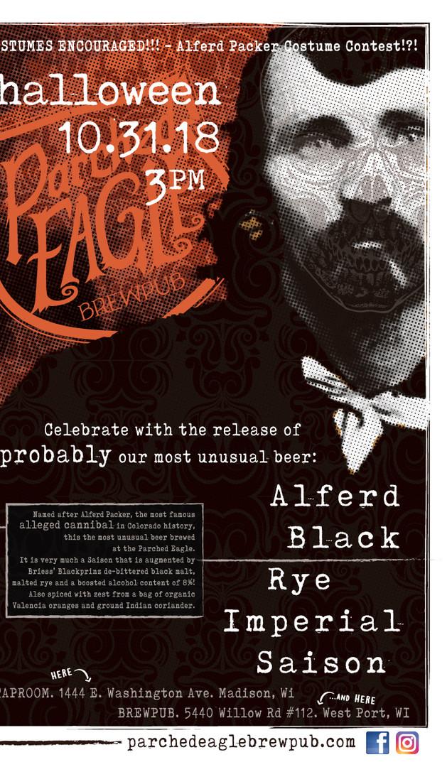 Alferd Black - Beer Release Poster