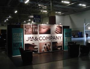 JA & Company Trade Show Booth