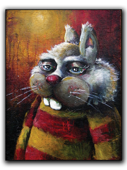 """""""Bunny"""" Print on Wood"""