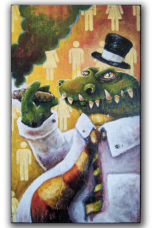 """Gator II"" Print on Wood"