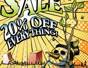 Freedom Skate Shop Sale Signage