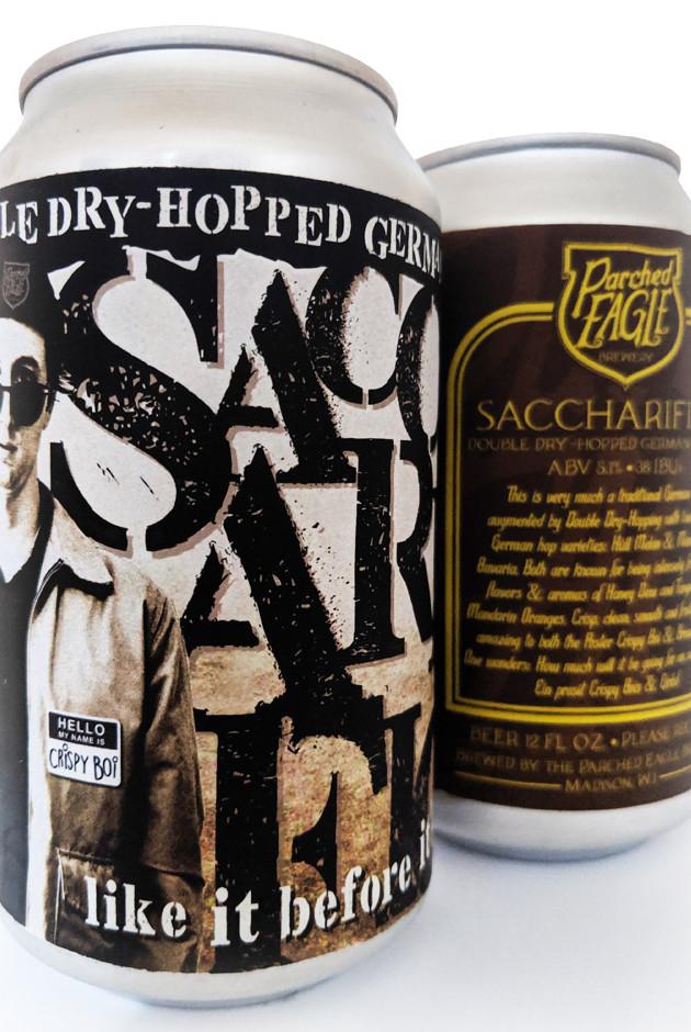 Saccharifice 12oz Can Label