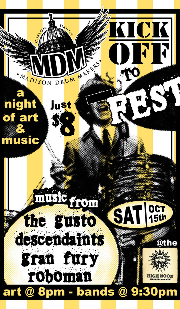 Kick Off to FEST! - Gig Poster
