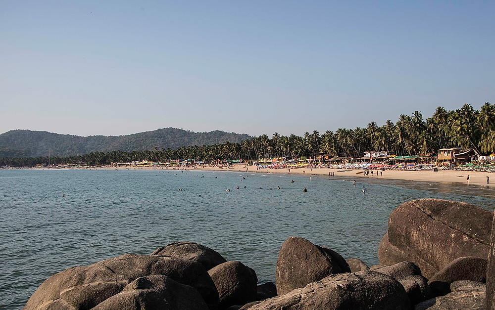 Pololem beach Goa overlooking the Arabian Sea. Travel Blogs about Goa | Famous Beaches of Goa