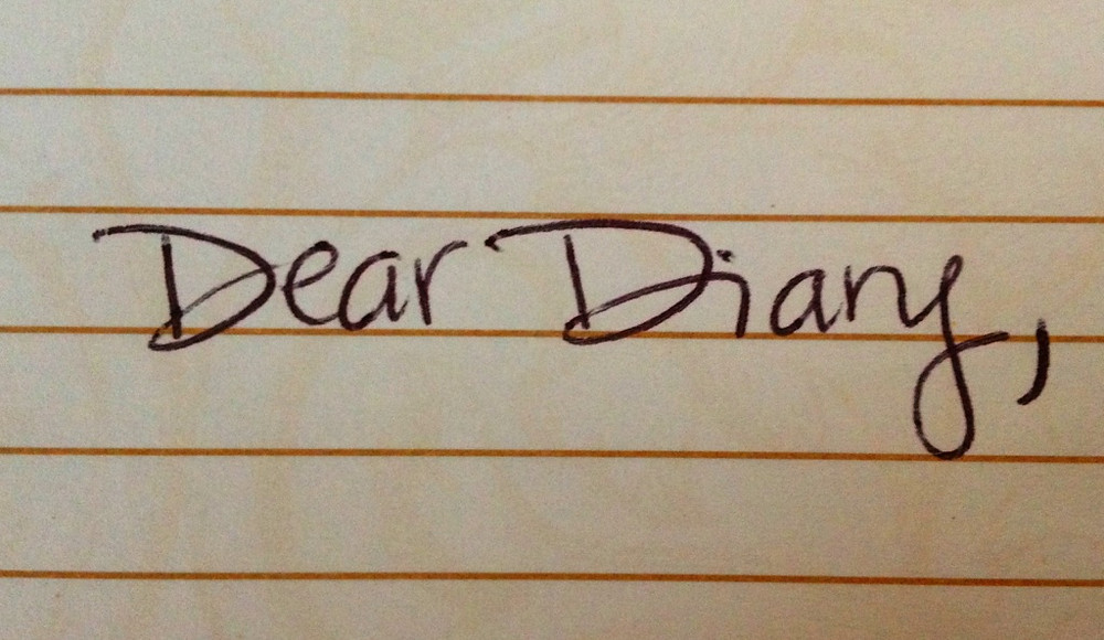 Started writing a diary entry.