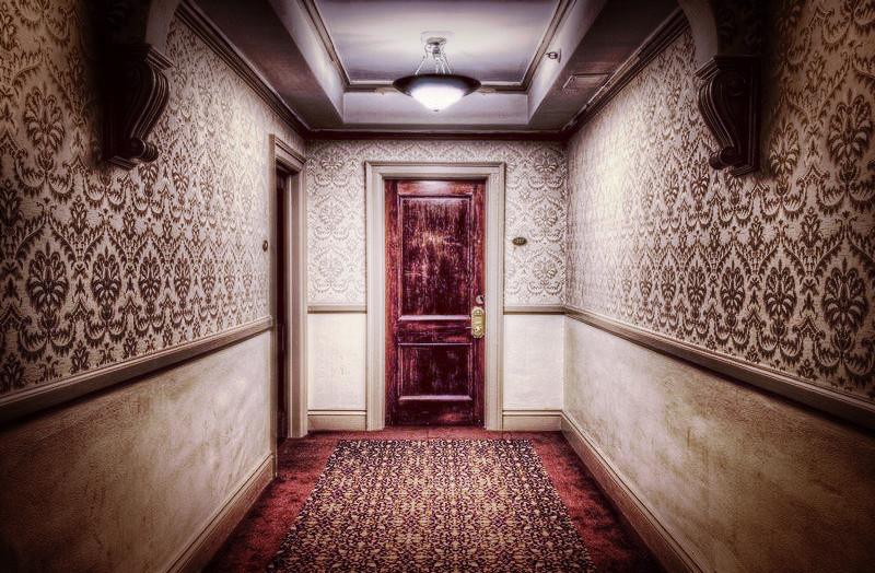 A haunted room suspiciously locked.