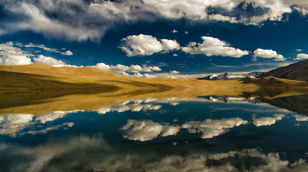 The crystal clear waters of Tso Moriri Lake in Ladakh.
