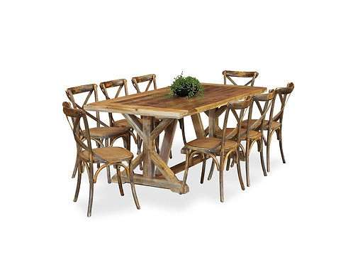 Foundry 9pc Rustic Dining Suite