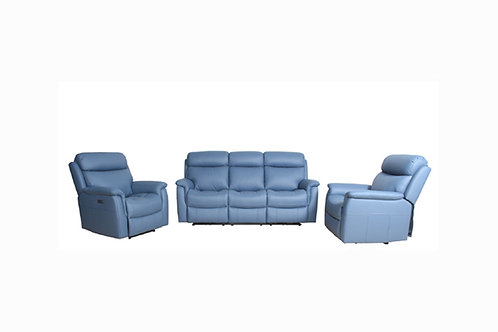 Cameo Leather 3pc Lounge suite