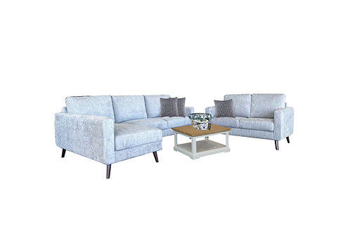 Gem 3 Seater Chaise  + 2 Seater Lounge