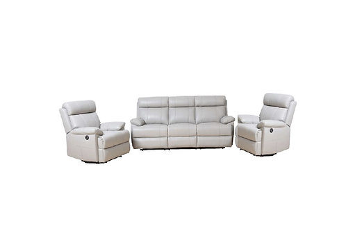Rhinestone Leather 3 Piece Lounge
