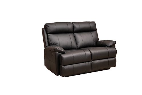 Rhinestone Leather 2 Seater Manual Recliner Lounge
