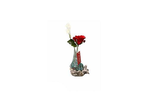 Slump Glass Rose Vase