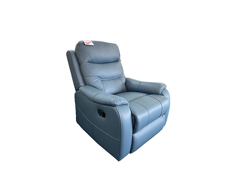 Coral Leather Manual Recliner