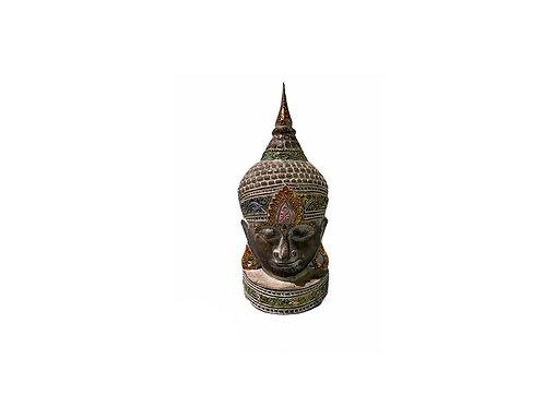 Wooden Buddha Head Medium