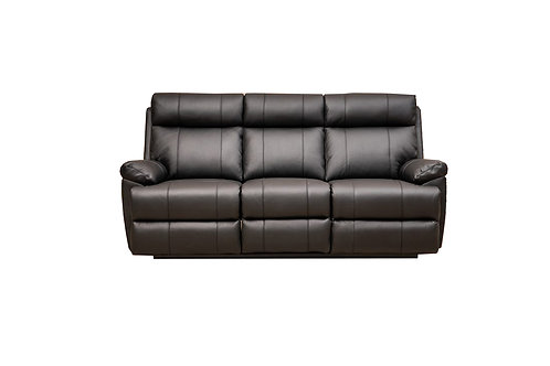 Rhinestone Leather 3 Seater Manual Recliner Lounge