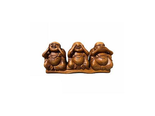 Hear No See No Speak No Evil Wooden Buddhas