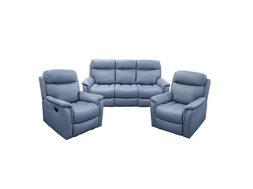 Cameo Leather 3pc Manual Recliner Lounge
