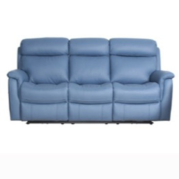 Cameo Leather 3 Seater Manual Recliner Lounge