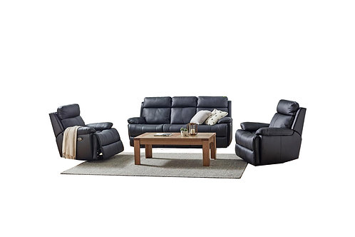 Platinum Leather 3pc Electric Lounge Suite