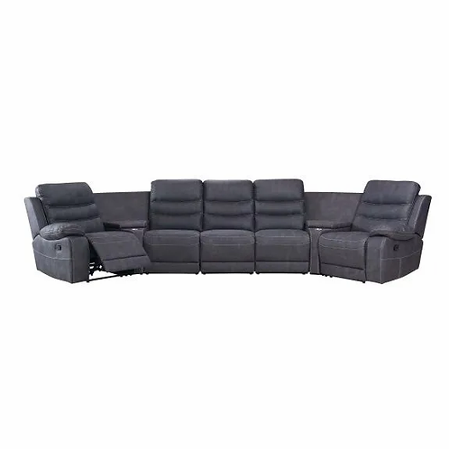 Detroit 5 Seater Modular Home Theatre Recliner Lounge