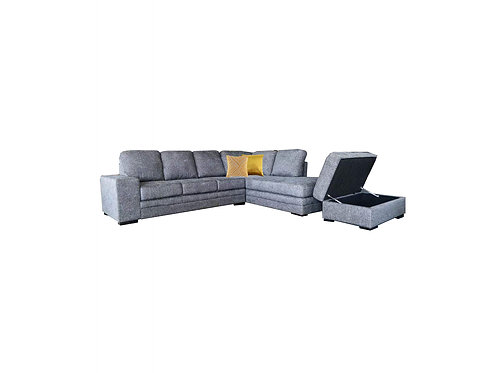 Delta 4 Seater Chaise Lounge w/Storage Ottoman