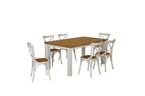 Hamptons Crossback 7pc Dining Suite