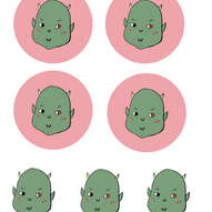 monster baby sticker sheet