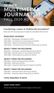 Multimedia Journalism Minor