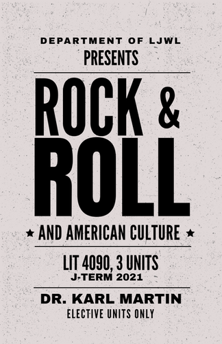 LIT 3090 Rock & Roll and American Cultur