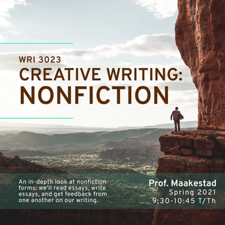 WRI 3023 Creative Writing: Nonfiction