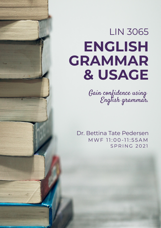 LIN 3065 English Grammar & Usage