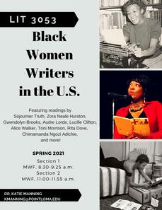 LIT 3053 Black Women Writers in the US