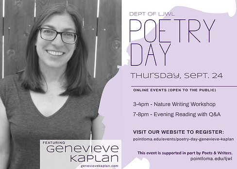 Poetry Day with Genevieve Kaplan