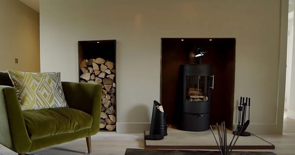 Corten fire surround
