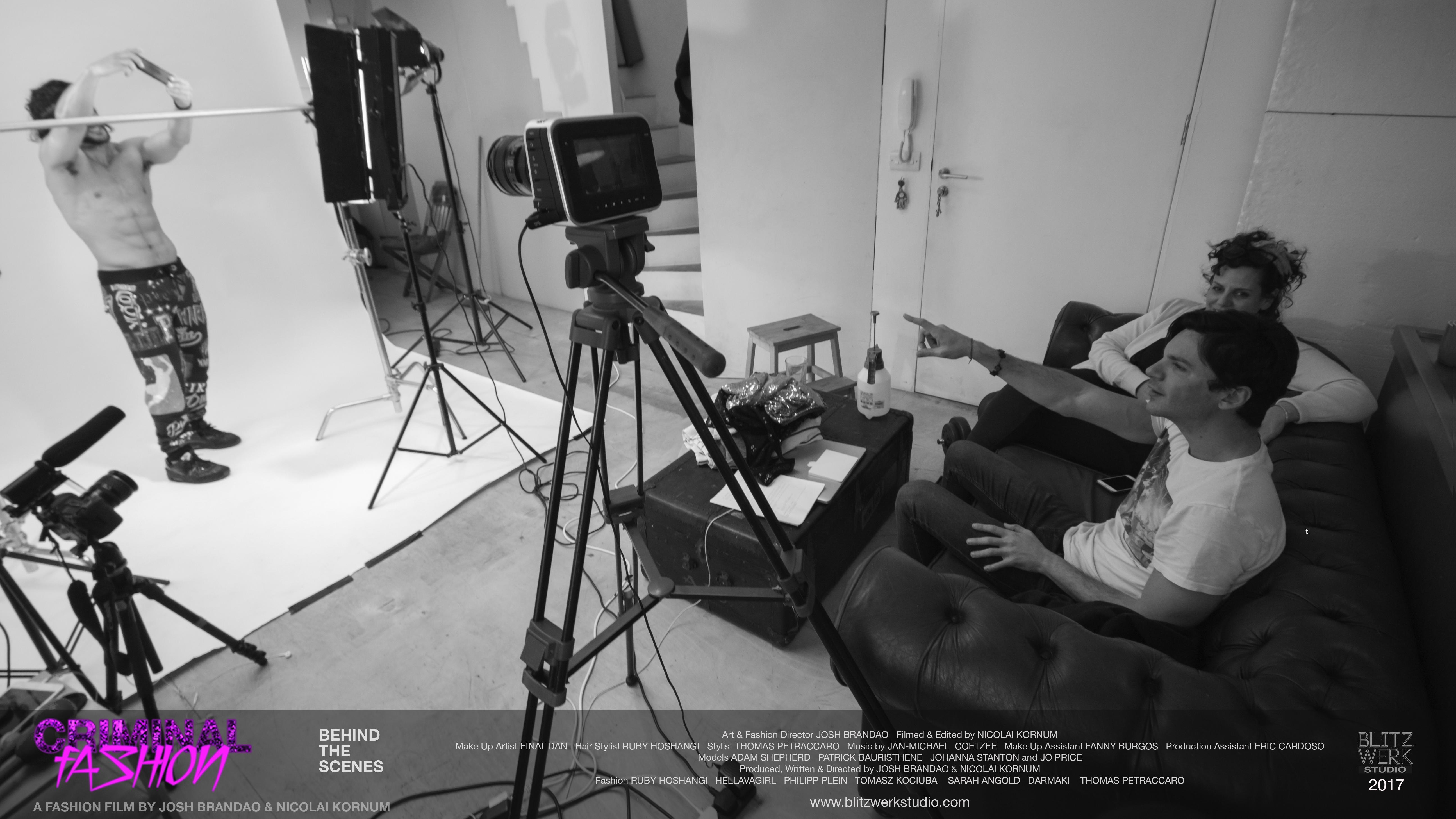 CRIMINAL FASHION BTS 3 Patrick Bauristhene, Josh Brandao, Einat Dan