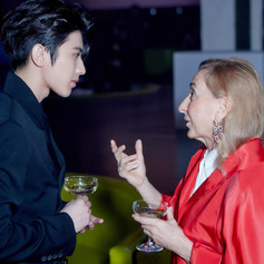 190606 KUN with Mrs. Miuccia Prada at Prada Srping/Summer 2020 show in Shanghai