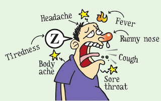 Man with cold symptoms
