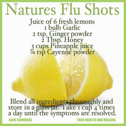 Recipe for Natural Flu Shot Remedy