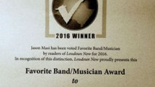 Favorite Band / Musician Award in the 2016 Loudoun Now Reader's Poll