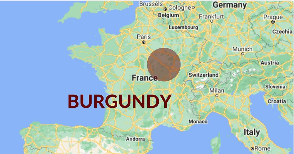 Burgundia veiniregioon asub Prantsusmaa idaosas