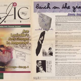 MAJIC - Monthly Arts Journal Information Calender (Louisville, Kentucky) --- September, 2001.